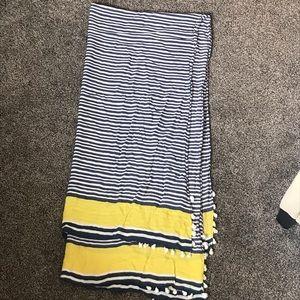 Stella & Dot Yellow & Navy Stripe Scarf